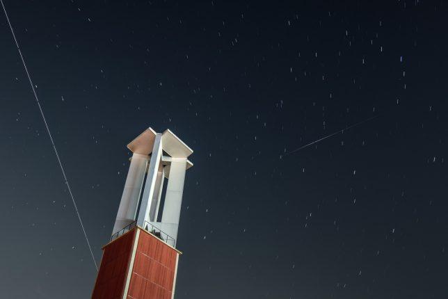 ISSとイリジウムフレア 写真提供 金沢星の会